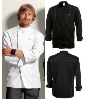 Veste de cuisine noir manche courte pas cher